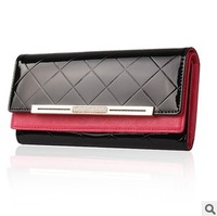 EMS free shipping Hot-selling 2013 women's long design wallet dimond plaid quality diamond cowhide wallet
