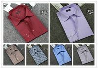 2014 brand New arrival spring and autumn men cotton fashion long sleeve plaid stripe polo shirts brand business casual man tops