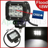 1 PCS Hot sales 2014 New 4inch 18W Cree LED Work BAR 1260LM Light Lamp Flood Beam 36W 72W 120W LED Bulbs External