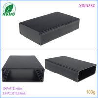Extruded aluminum electronic enclosures aluminium profile case for power supply aluminum box 100*64*23.6mm  3.94*2.52*0.93inch