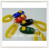 Free shipping!!  10pcs/lot ,  mixed colors, Mini Dog Pet Click Clicker Training Trainer Aid Guide