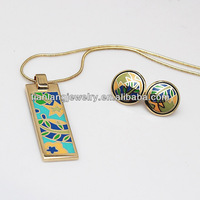 New Arrival! wholesale artistic national style vintage leaf enamel jewelry set