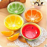 Hot sale!! creative bowl, lovely, hand painted fruit bowl, watermelon, ceramic bowl, tableware~
