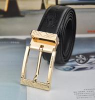 New Arrive / Best Design Real Leather Belt Mens Genuine Leather Belt Man Luxury Belts Alloy Golden Buckle Free Shipping