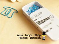 10pcs metal box inside Cute cartoon shape metal bookmarks,Paper clip,Wholesale price
