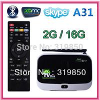 CS918S A31 Andriod 4.4.2 Smart TV Box Quad Core 2GB RAM 16GB ROM Built in 5.0MP Camera XBMC Bluetooth 3G 4K WIFI +Remote Control