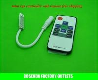 DC 12-24V  Wireless 10 keys mini rgb  Led controller with rf remote control for rgb Led Strip 3528/5050 free shipping