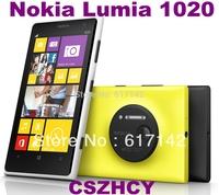 Original Nokia Lumia 1020 Refurbished Smart Mobile phoneWIFI 2000mAh  Dual Core 41MP Cell Phone 4.5'' FM Free shipping