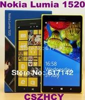 Original Nokia Lumia 1520 Unlocked Cell phone Quad Core 6.0 Big Screen 3400mAh 20MP Wifi FM Refurbished Free shipping