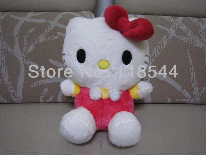 35cm red hello kitty toys plush hello kitty plush soft toys stuffed hello kitty kids toy baby toy one piece free shipping(China (Mainland))