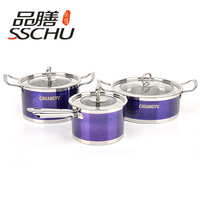 FREE SHIPMENT -NEW ARRIVAL -STAINLESS STEEL POT -6 PCS PER SET S -WITH LID