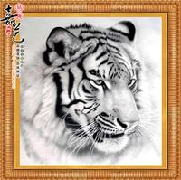 Free shipping  DIY Tiger diamond painting  Retail 80*80 CM 3D square resin full diamond cross stitch   embroidery