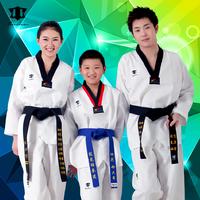 Adult child tae kwon do long-sleeve autumn and winter cotton 100% taekwondo clothes 100% cotton
