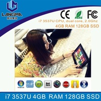 Langma Newest windows 8 11.6 inch tablet pc support bluetooth wifi 3G/ Intel core i7 3537U CPU, dual core, 2.0Ghz