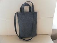 Customized fashion handbag felt bag change purse