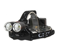 1200LM 8W High Power CREE Two Dual Head R2 LED Bicycle Bike Light Head Lamp 2 in 1