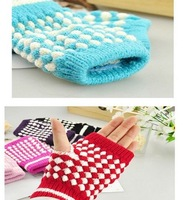 Min Fashion hal Womens Hand Wrist Winter Knitted Warmer Fingerless Mitten Gloves