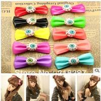 2014 new hot selling 20pcs/lot Halloween Evil Eye Bowknot Design Hair Clip Hairclip Womens Hair Accessories free shipping