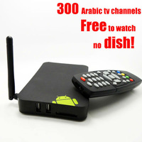 Free shipping cheap internet media box  arabic iptv box dual core arabic tv box with HD Picture over 300 arabic channels
