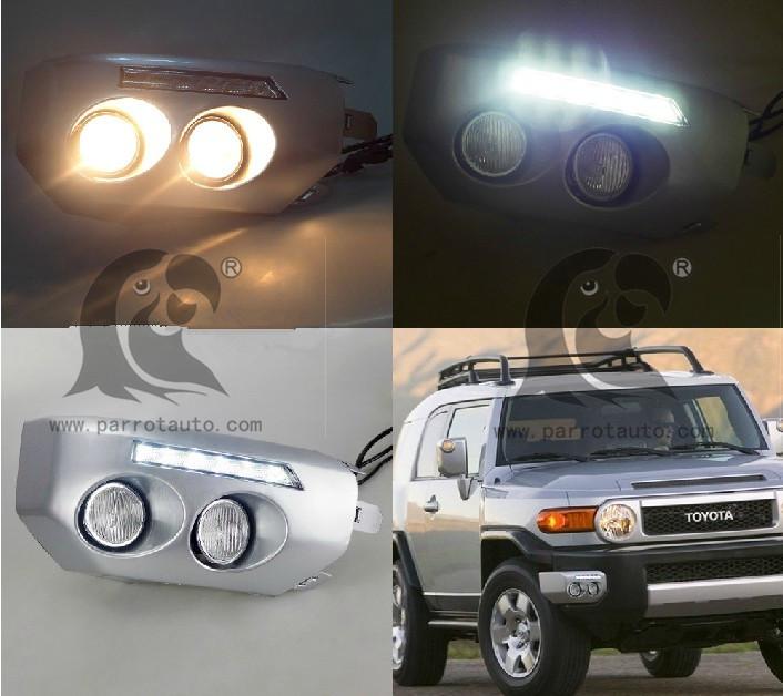 Дневные ходовые огни Parrot + Toyota FJ Cruiser дневные ходовые огни сплошной диод купить