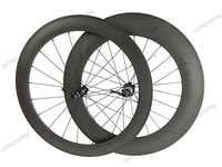FREE SHIPPING 3k finish 700c 60mm front 88mm rear clincher bike Carbon wheels road bicycle V brake wheelset