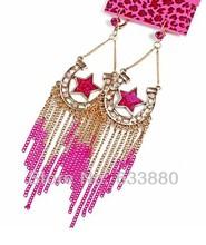 popular pink star earrings