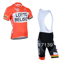 NEW! 2014 LOTTO Team  Cycling Jersey/Cycling Wear/Cycling Clothing short (bib) suit-LOTTO-1D Free Shipping