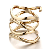 (Mini order 10usd can free ship)New Arrival Irregular Shape Multilayer Design Ring For Women 2014 Style