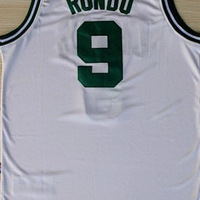 Free Shipping,#9 Rajon Rondo Rev30 New Material Basketball jersey,Embroidery logos,Size S-2XL,Mix Order