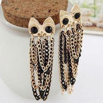 бесплатная доставка! модные сова серьги стержня, специальная конструкция серьги для женщин, горячая продаж!