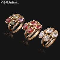 High Qality Ring for Women 2014 NEW with 18k Gold Plated AAA+ Zircon