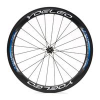 Carbon Wheels Clincher 50mm Road Bike Wheelset + Ceramic Bearings + Sapim Cx- Ray Spokes + Straight Pull Hubs
