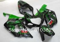 ABS Plastic Fairing kit for SUZUKI GSXR600 750 01 02  03 GSXR 600 GSX-R750 K1 2003 2001 2002 green flames blk Fairings kit SM30