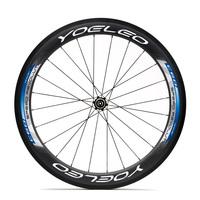 60mm Carbon Wheel Clincher Road Bicycle Wheelset + Ceramic Bearings + Sapim Spokes + Straight Pull Hubs