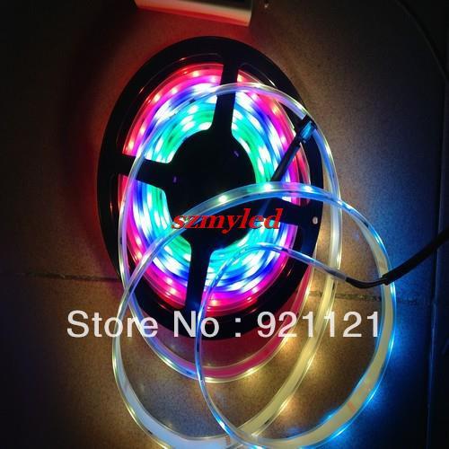 5M 240LEDS 5050 SMD Tube Waterproof LPD8806 IC Flexible RGB LED Strip 48LEDs/m IP67 DC 5V ,5m/lot(China (Mainland))