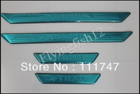 Free shipping & Tracking Stainless steel Door sill Scuff plate trim fit for Nissan X Trail X-Trail 2008 2009 2010 2011 2012 2013