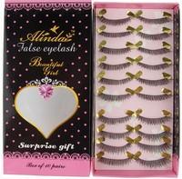 Quality handmade natural dense lips nude makeup cotton thread lengthen false eyelashes 907