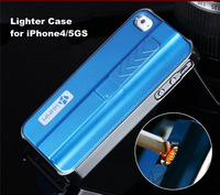 Man Style Lighter Hard Back Case For Apple iPhone5 5S 4 4S Luxury Cigarette Lighter Case