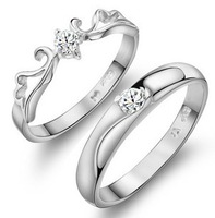 2013 New arrival romantic forever love lovers`couple rings/925 sterling silver finger wedding ring jewelry