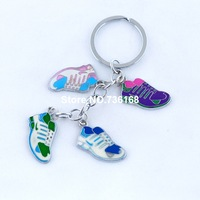 Free shipping mercancia fashion commodities wholesale sport shoes pendents enamel new trendy casual colorful shoes keychains