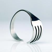 New arrival fork bracelet fashion men's women's lovers design stainless steel hand ring birthday gift