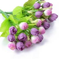2pcs Silk Flowers Romantic False Mini Purple Flowers Roses  Floral Crafts Gifts Free ship