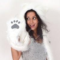Women Girl Lady Cute Animal Fur Hat Winter Cap Halloween Christmas Gift