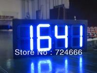 "Sinosky 10"" 88:88 digital temperature/humidity display outdoor Led Clock, Time, Temperature display sign panel waterproof"