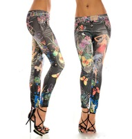 Free shipping 2013 New arrival Women's Fashion Leggings Stretchy Skinny Leg Pants Jeggings ---- K040