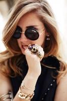 The Row Signature Round Sunglasses  Women Designer Brand Sunglasses  Vintage Sunglasses With packing