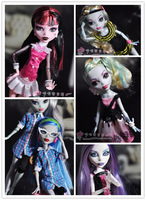 Free Shipping 5pcs/lot Genuine The Monster High Clothing Dress 5-styles Clothes For Original Monster High Dolls