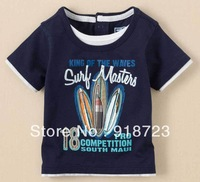 2014 new spring and summer children boy t-shirt surf beach fashion 18M-6T brand high quality 1 pcs sport suit clothes for boys
