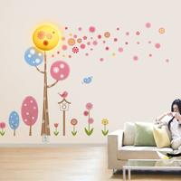 220V 3D Wall Sticker Lamp / Wall Decoration Night Light Wallpaper