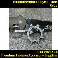 1PC Octopus Outdoor Multi- function bicycle tools 12 multi- purpose key EDC gadget Gray